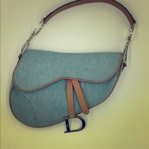 Christian Dior saddle denim bag